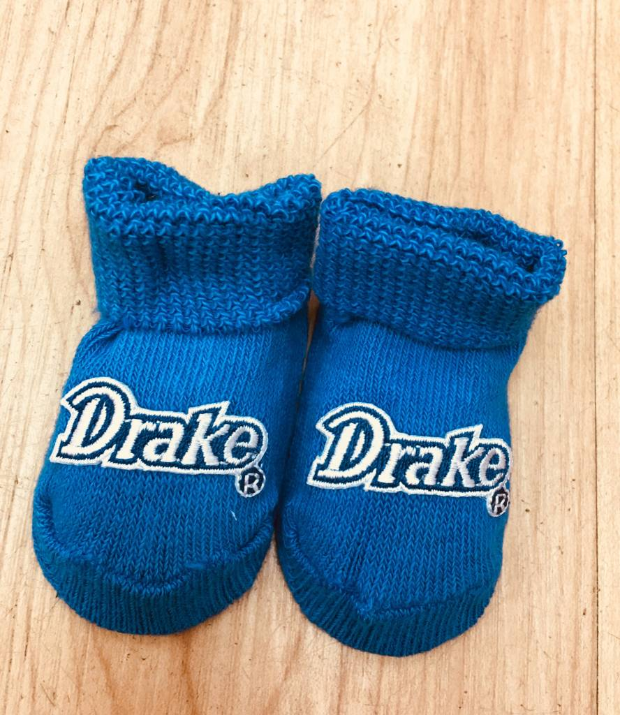 Creative Knitwar Drake University Newborn Bootie