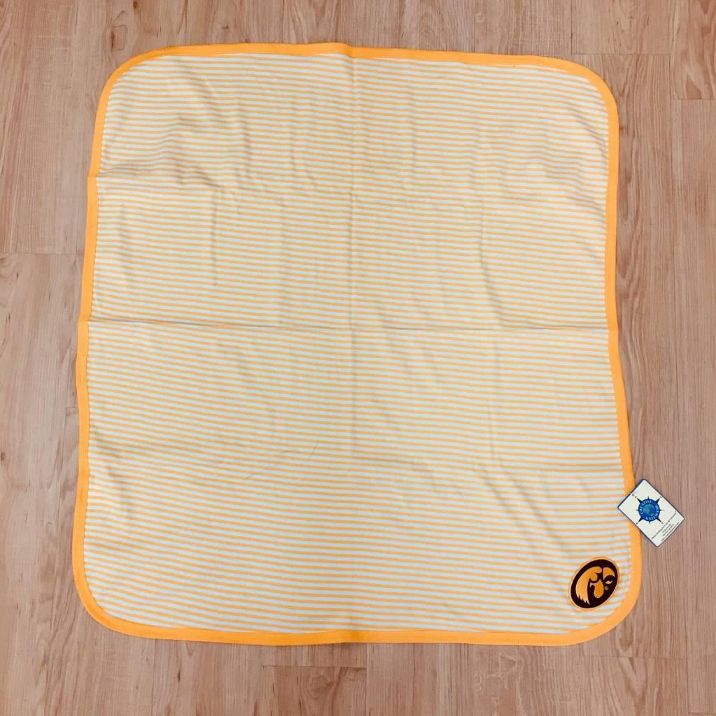 Creative Knitwar University of Iowa Striped Baby Blanket