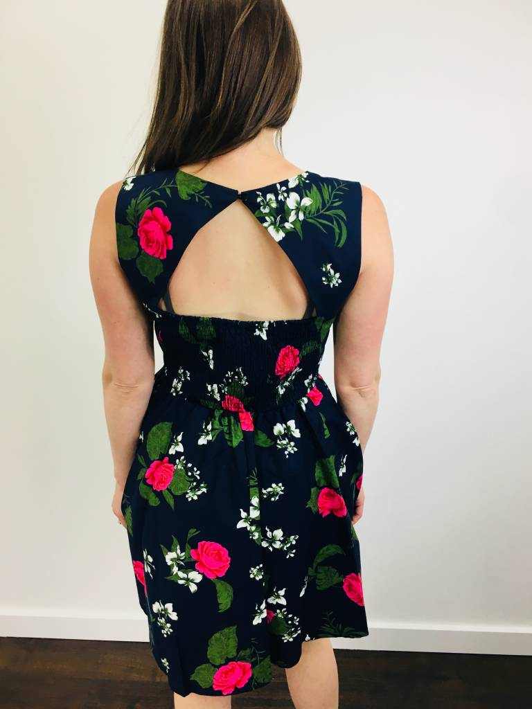 Papillon Floral Fit and Flare Dress