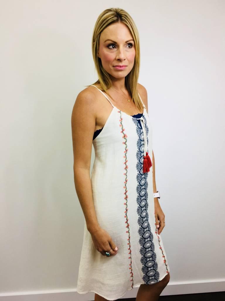 Hem & Thread Embroidered Tassel Dress