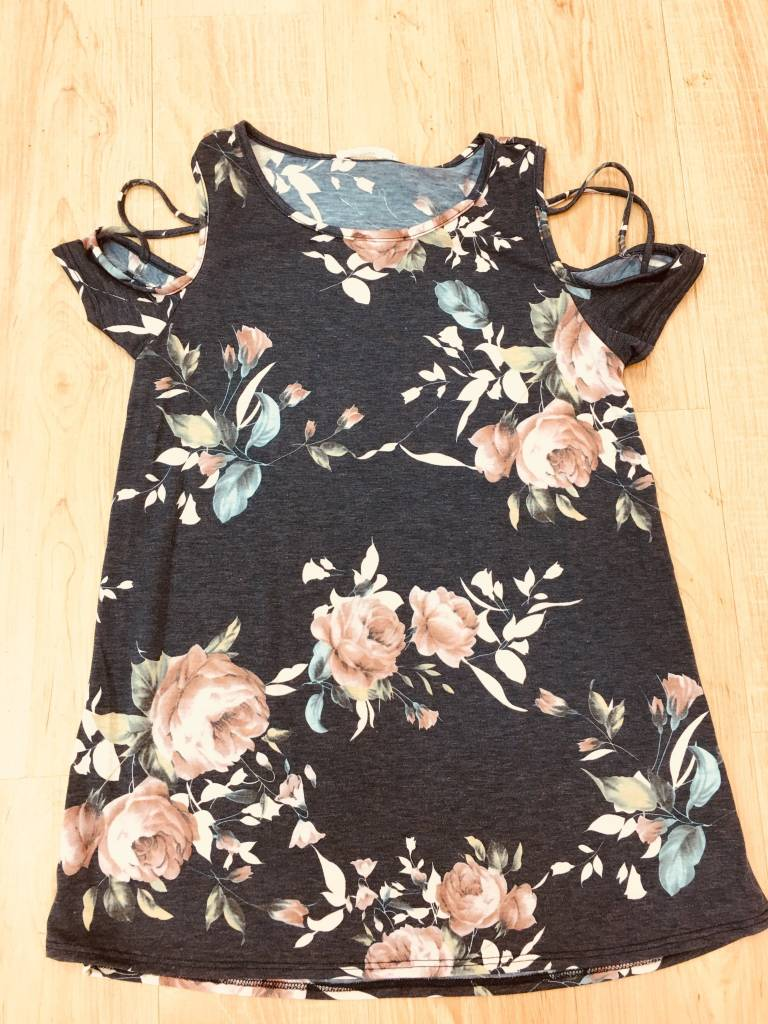 Annabelle Criss Cross Open Shoulder Floral Top