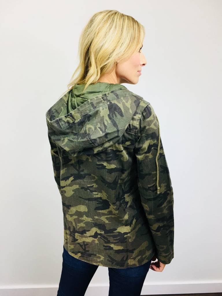 Hem & Thread Camo Cargo Jacket