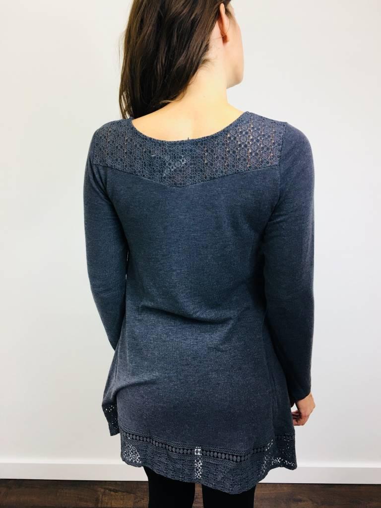 Papillon Crochet Detail ALine Dress
