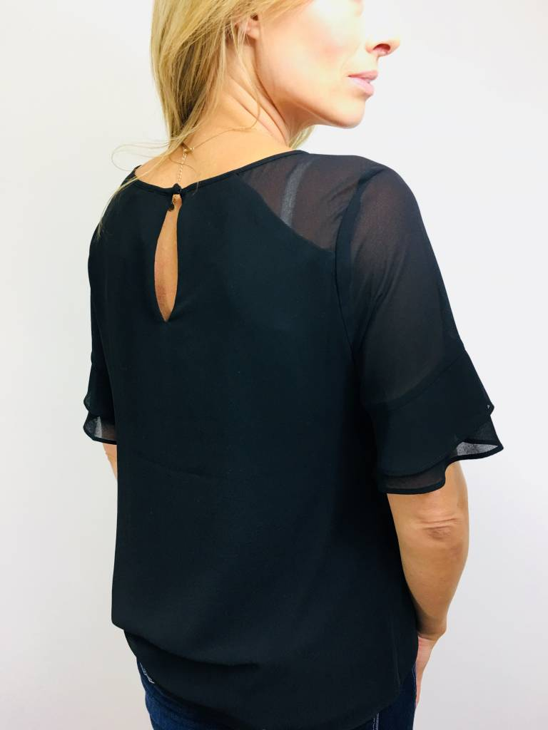 KLD Chiffon Twist Front Top