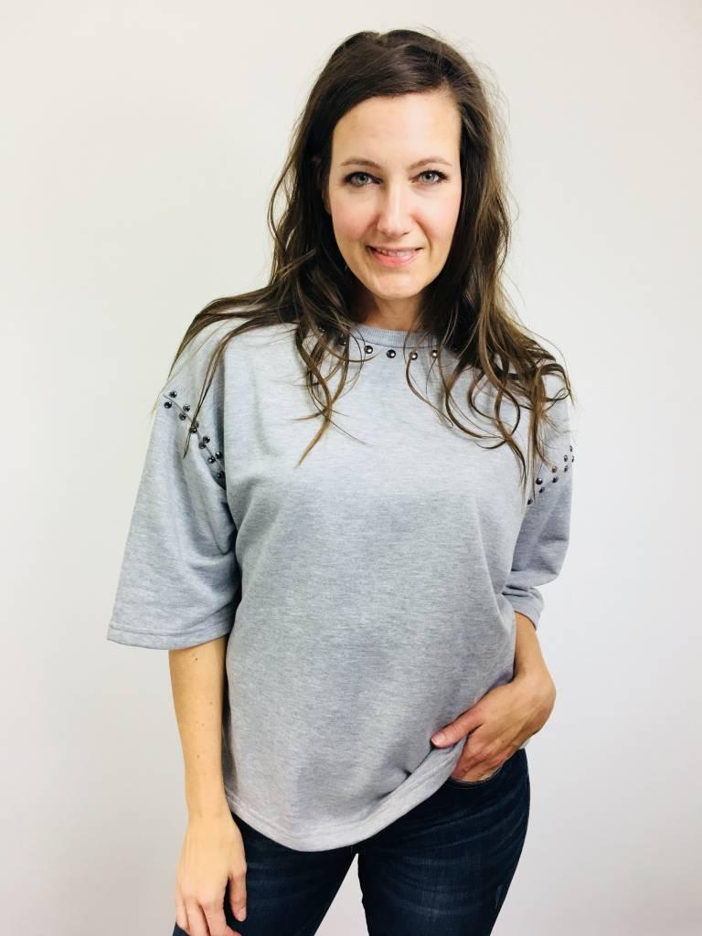 KLD French Terry Studded Sweatshirt