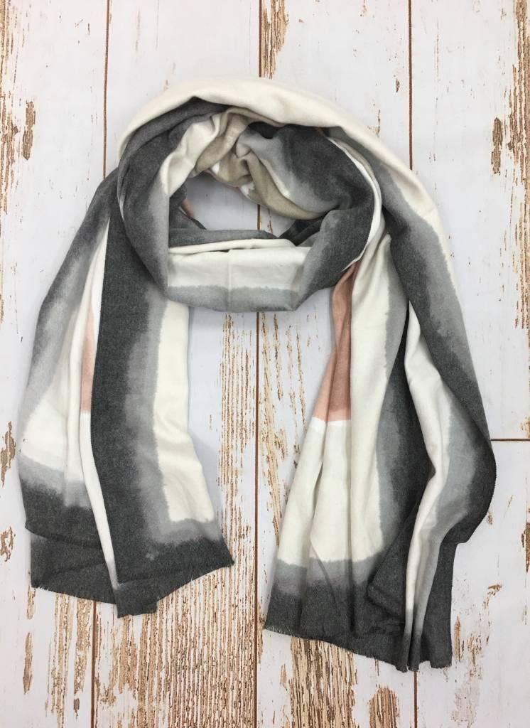 Epretty Cashmere Pink/Grey Scarf