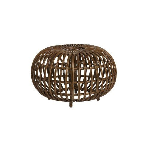 Icons Franco Albini Rattan Ottoman. 55cm diameter. Antique colour.