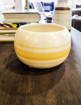 Modern Exchange Yellow White Bowl