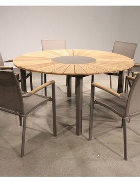 White Line Sanctuary Outdoor Dining Table Rd / Taupe