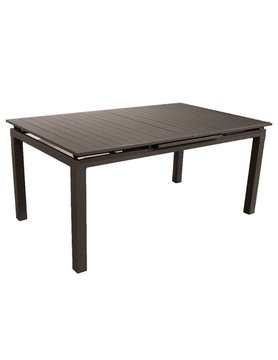 White Line Alum indoor / Outdoor Extendable Dining Table Grey aluminium