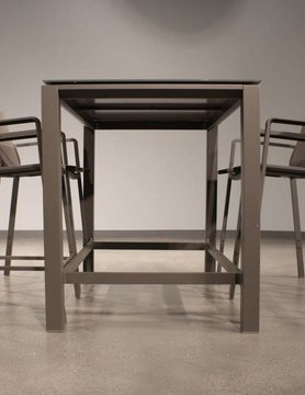White Line Vargas indoor / outdoor bar Table aluminium Taupe
