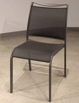 White Line Aloha indoor / Outdoor Dining chair Grey Aluminium, grey sling, St