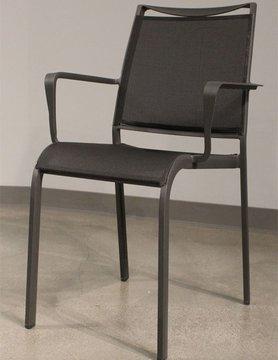 White Line Venice Indoor/Outdoor Dining Armchair Dark Grey Aluminium 892