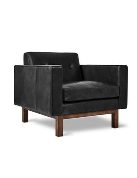 Gus Modern Embassy Chair Saddle Black Leather