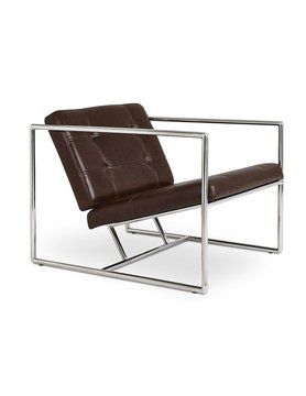 Gus Modern Delano Chair V2 Chestnut Brown Leather Polished