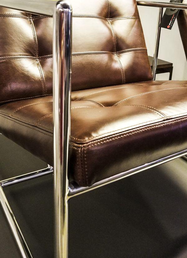 Gus Modern Delano Chair V2 Chestnut Brown Leather Polished