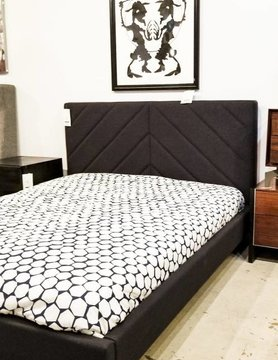 Gus Modern Switch Bed Urban Tweed Ink Queen