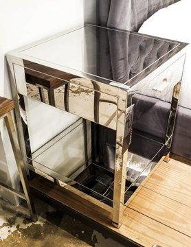 Diamond Sofa Corleo SS 1-Drawer End Table