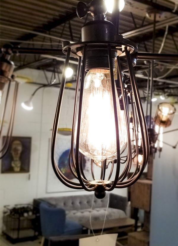 Zuo Modern PORIRUA CEILING LAMP DISTRESSED BLACK