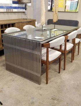 Zuo Modern NOVEL DINING TABLE BRUSHED SS