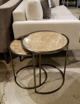 "Kube imports ET1852 ""Twin"" Nesting Table ,"