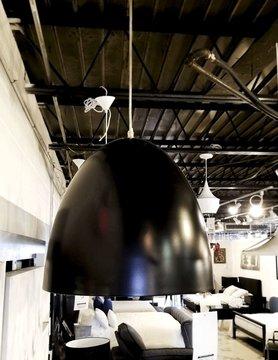 Nuevo Living Dome Pendant Lamp Small (Black)
