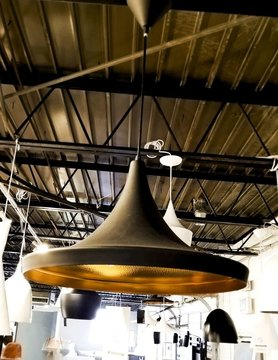Nuevo Living EUCLID Pendant Lamp Matt Black Gold