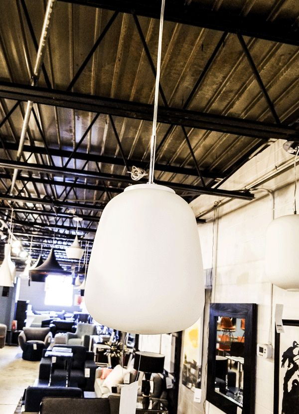Nuevo Living SINGLE BULB PENDANT  FROSTED WHITE