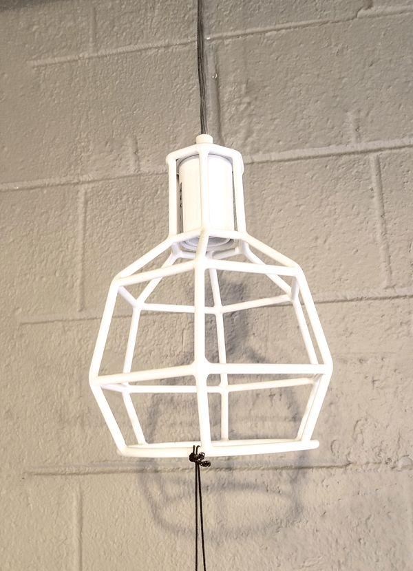 Nuevo Living CAGE PENDANT LAMP  MATTE WHITE