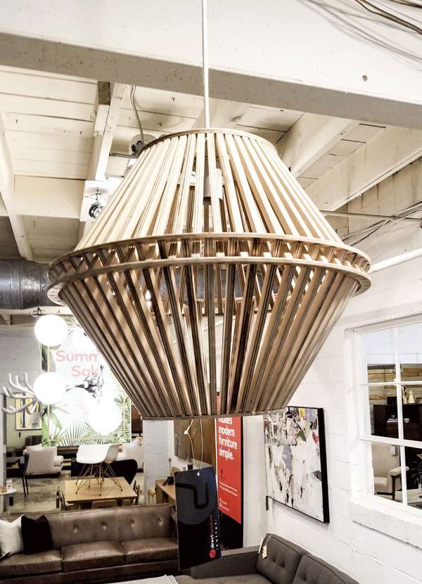 Nuevo Living SINGLE BULB PENDANT LAMP ASH HEXAGON