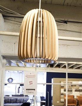 Nuevo Living SINGLE BULB PENDANT LAMP ASH OVAL