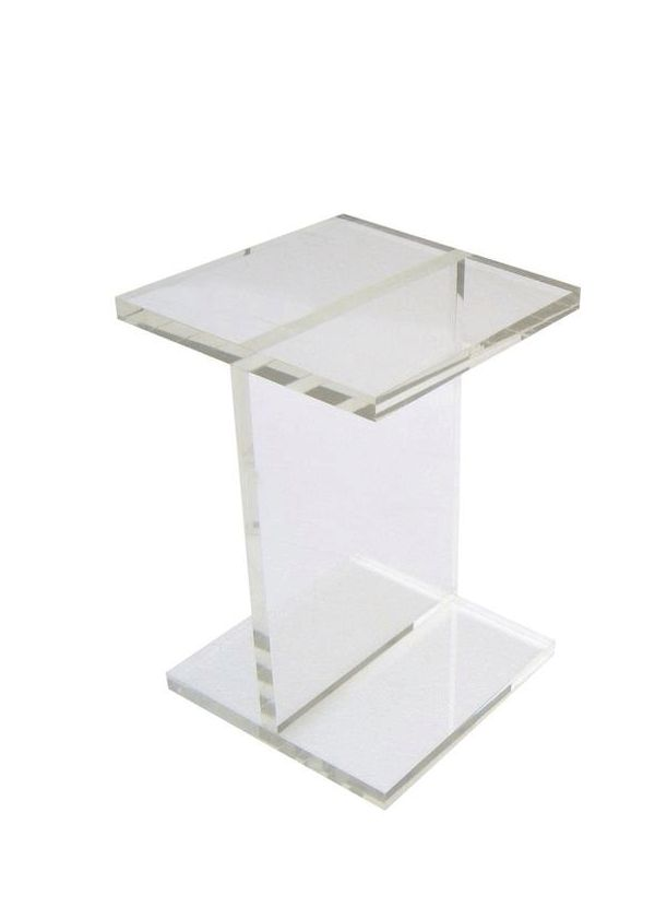 Gus Modern Acrylic I-Beam Table