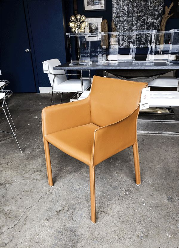 Kube imports C462A Gina Arm Chair IT-SP504 Cognag