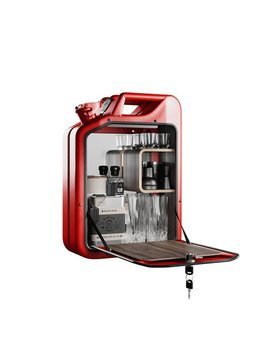 Jerry Can Bar Cabinet Red
