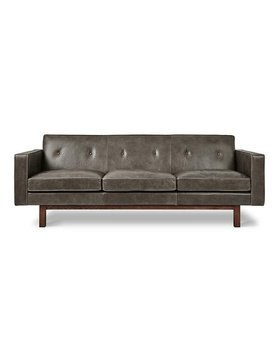 Gus Modern Embassy Sofa Saddle Grey Leather