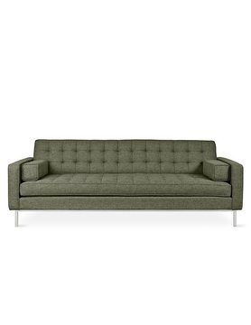 Gus Modern Spencer Sofa Parliament Moss Stainless