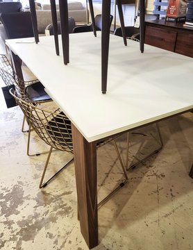 Kube imports T282/90 Morione Dining table White acid