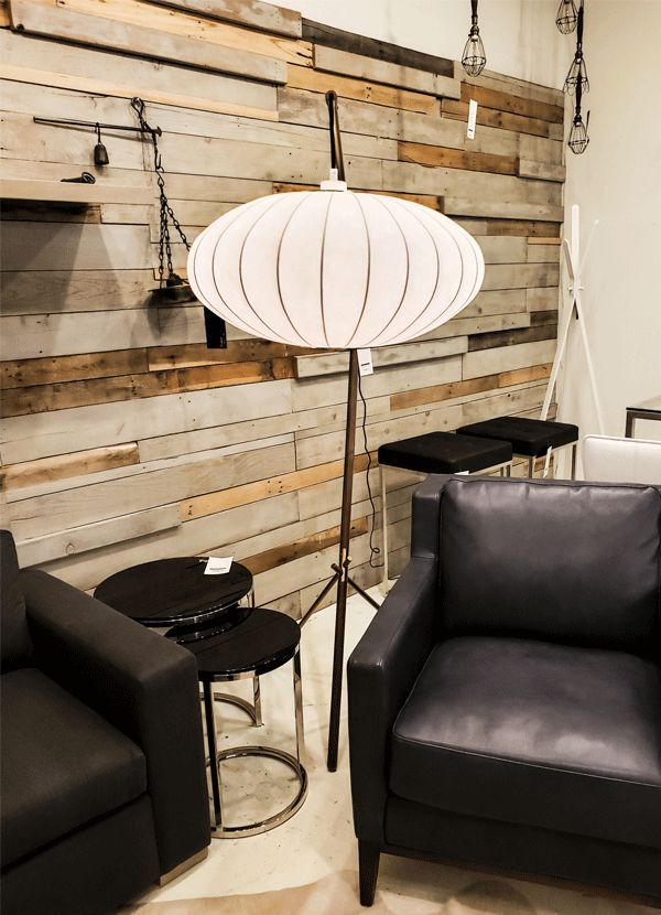 Charmant OSAKA FLOOR LIGHTING WHITE SHADE /WALNUT