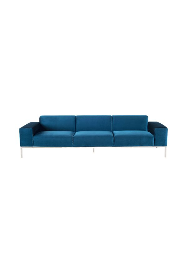 Nuevo Living Bryce Three Seater Sofa Midnight Blue