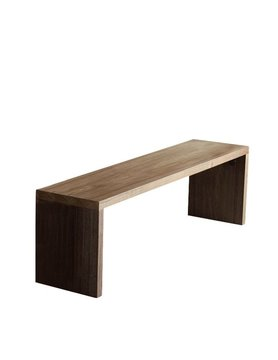 Gus Modern Plank Dining Bench Walnut