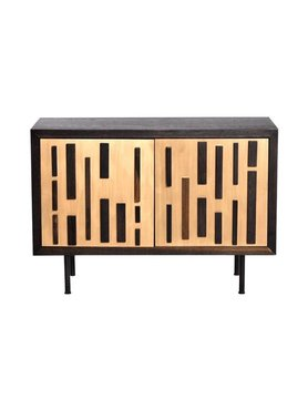 Nuevo Living BLOK SIDEBOARD BRONZE SEARED OAK