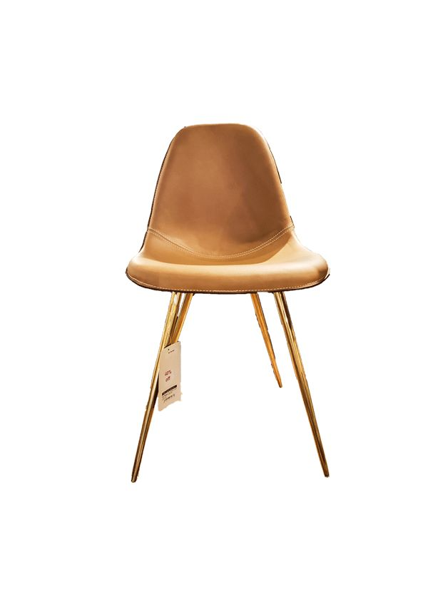 WES DINING CHAIR Brass Legs