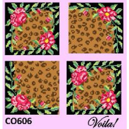 LEOPARD ROSE COASTER KIT