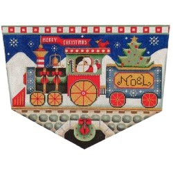 Santa's Train Stocking Topper 18 Ct