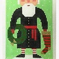 Santa in Blk Ornament 13M