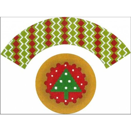 Christmas Tree Cupcake 3D