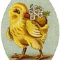Chick with Flowers Egg Ornament