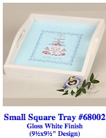 Sq White Tray without canvas