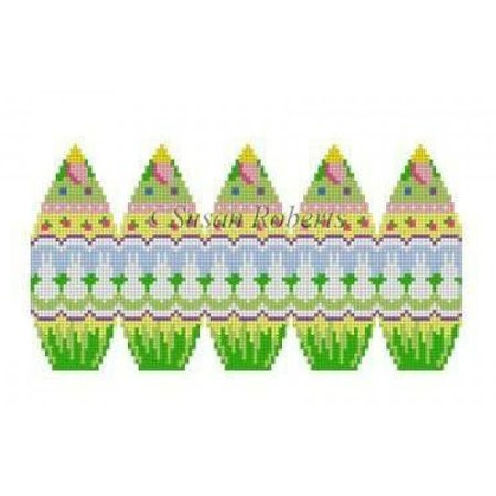 3d Stand Up Egg- Bunny Row 18ct