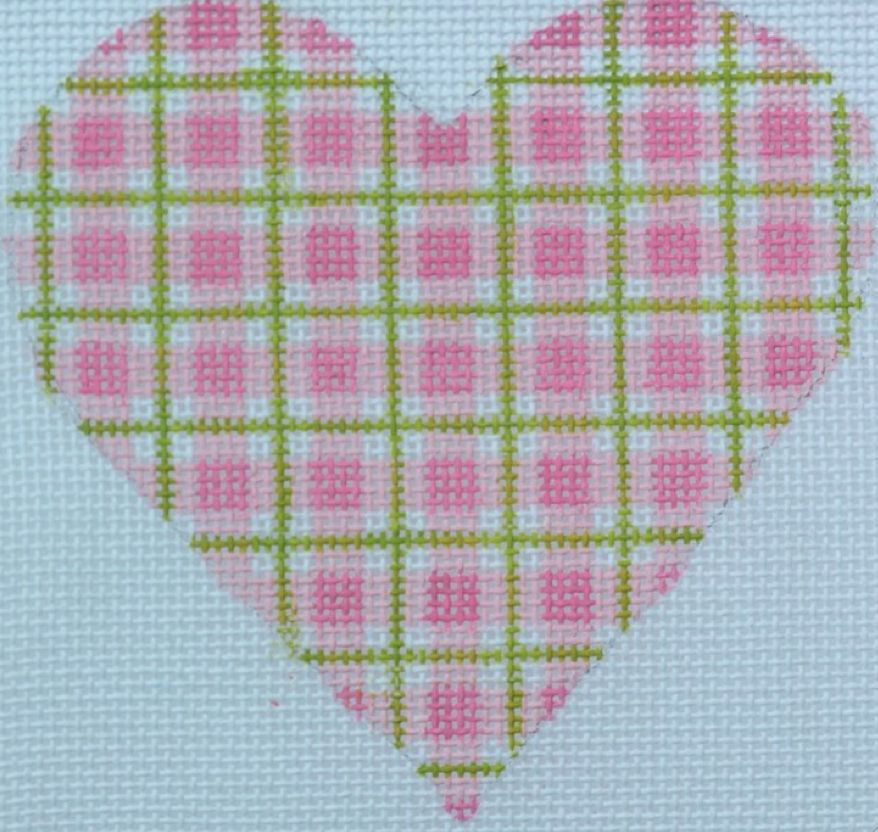 Heart Pink Plaid